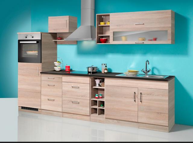 Küchenzeile 250 Cm Mit Elektrogeräten
