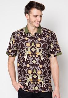 Model baju batik terbaru untuk pria modis