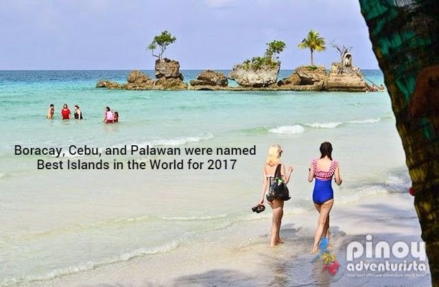 Boracay, Cebu, and Palawan were named Top 3 Best Islands in the World for 2017 by Condé Nast Traveler