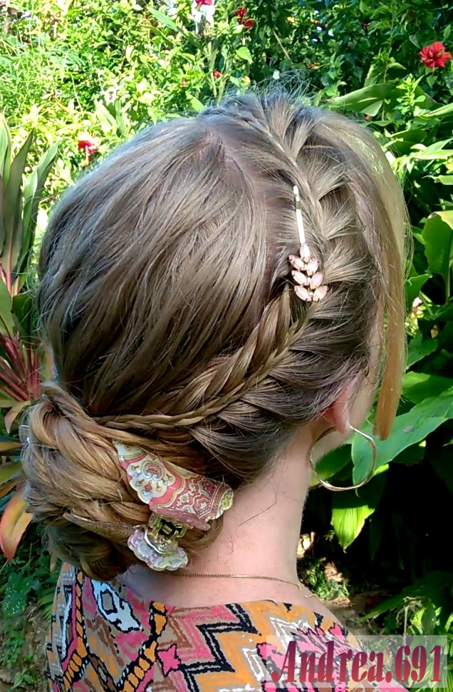 Braids   Hairstyles for Super Long Hair  French fishtail headband         a French fishtail headband braid with a small accent braid on top  a  diagonal French braid and a low braided bun  Thank you for coming to see my  post