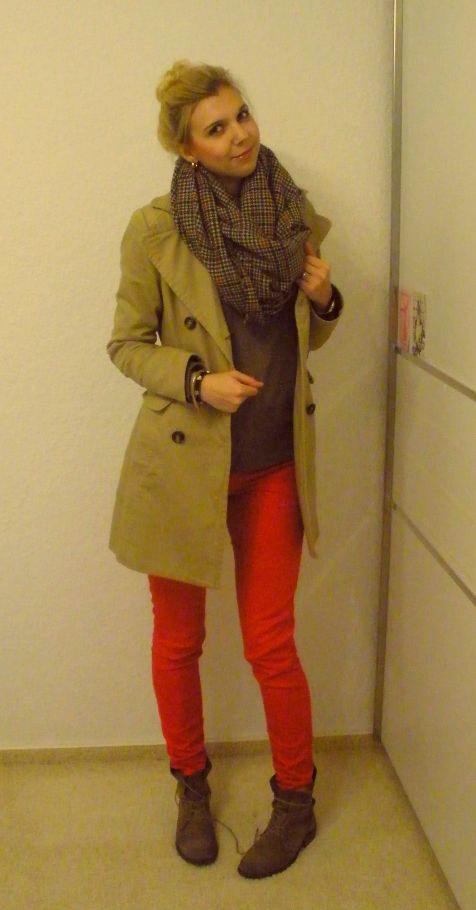 Red/Beige/Karo