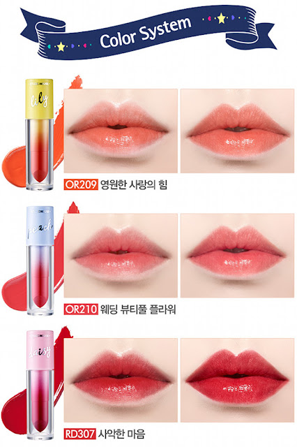 ETUDE HOUSE X WEDDING PEACH COLOR IN LIQUID LIPS JUICY