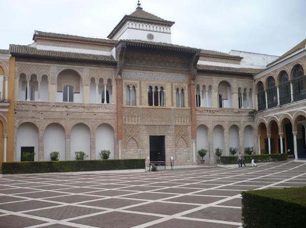 Alcazar Siviglia Facciata del Palazzo del Rey Don pedro