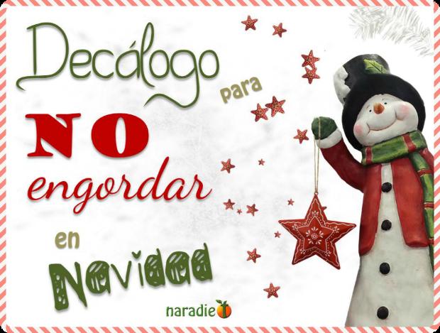 Decálogo para no engordar en navidad