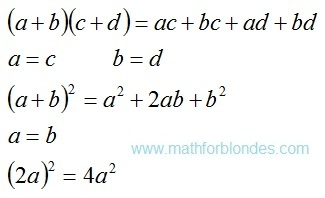 Algebraic transformations. Mathematics For Blondes.