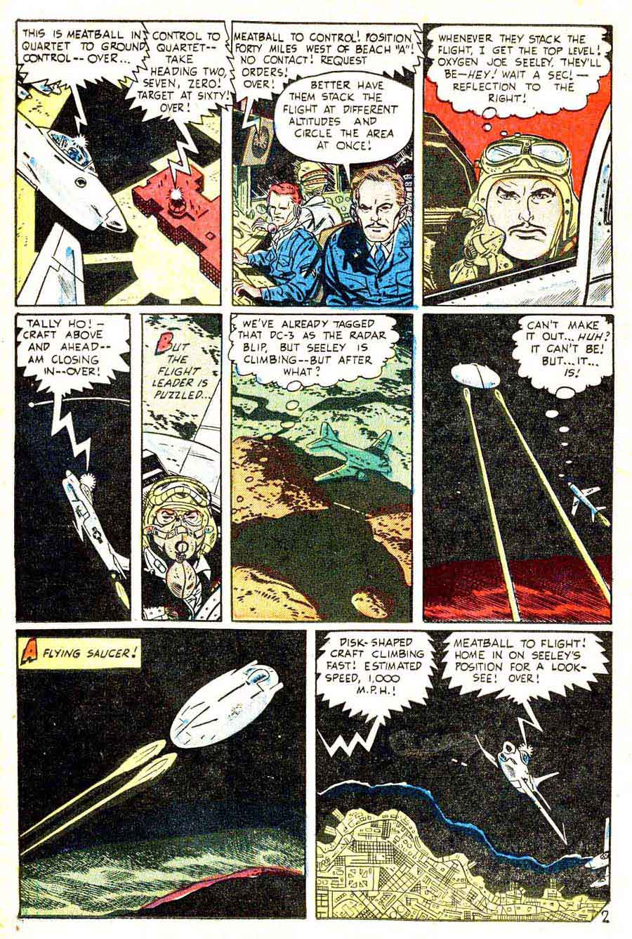 Jet Fighters v1 #7 standard war comic book page art by Alex Toth
