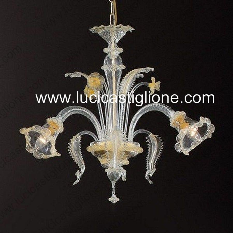 Ricambi per lampadari in vetro di murano e specchi ricambi per lampadari di murano classici con - Lampadari da interno ...