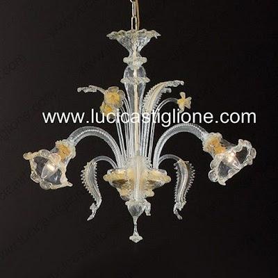 Ricambi per lampadari in vetro di murano for Lampadari mondo convenienza prezzi