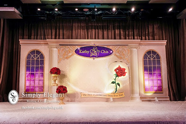 唯港薈,婚宴佈置,The Icon Hotel,Wedding Decoration,美女與野獸 Beauty and the Beast