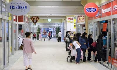 Rosengard shopping centre in Malmö