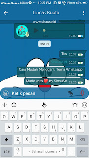 Cara Mudah ubah Tema Whataspp 7