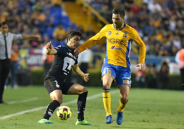 Resumen alineacion Tigres 4-0 Pumas jornada 14 clausura 2017