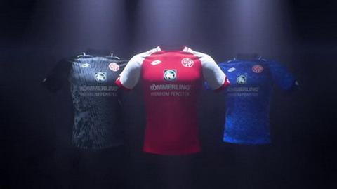 La Lotto presentó oficialmente la primera de las nueva camiseta del Mainz 05  2017 2018 Primera 6cb09ba9d3164