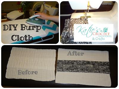 Diy Burp Cloth Tutorial Katies Crochet Goodies