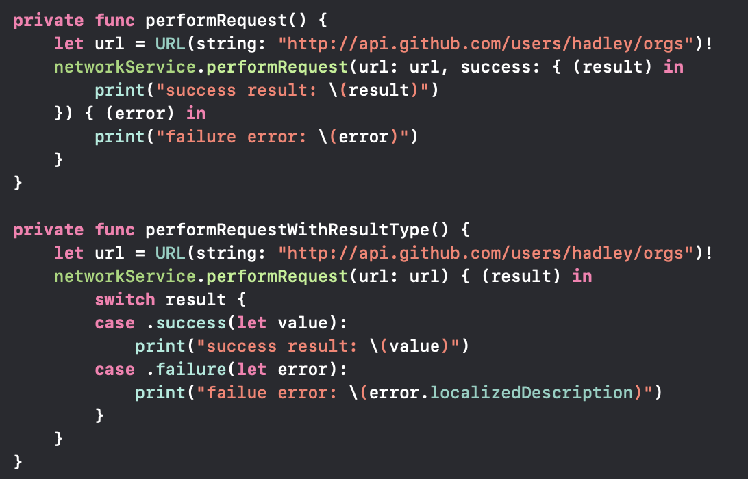 Sylvia at Hades Mercury: Use Result Type in Swift 5 with