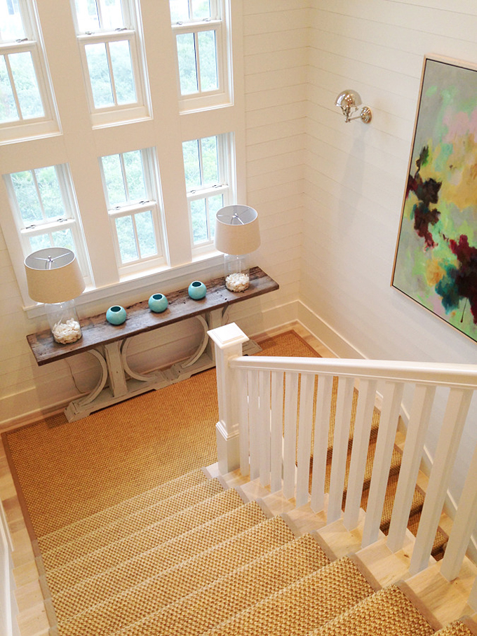 Basement Stair Landing Decorating: Meredith McBrearty