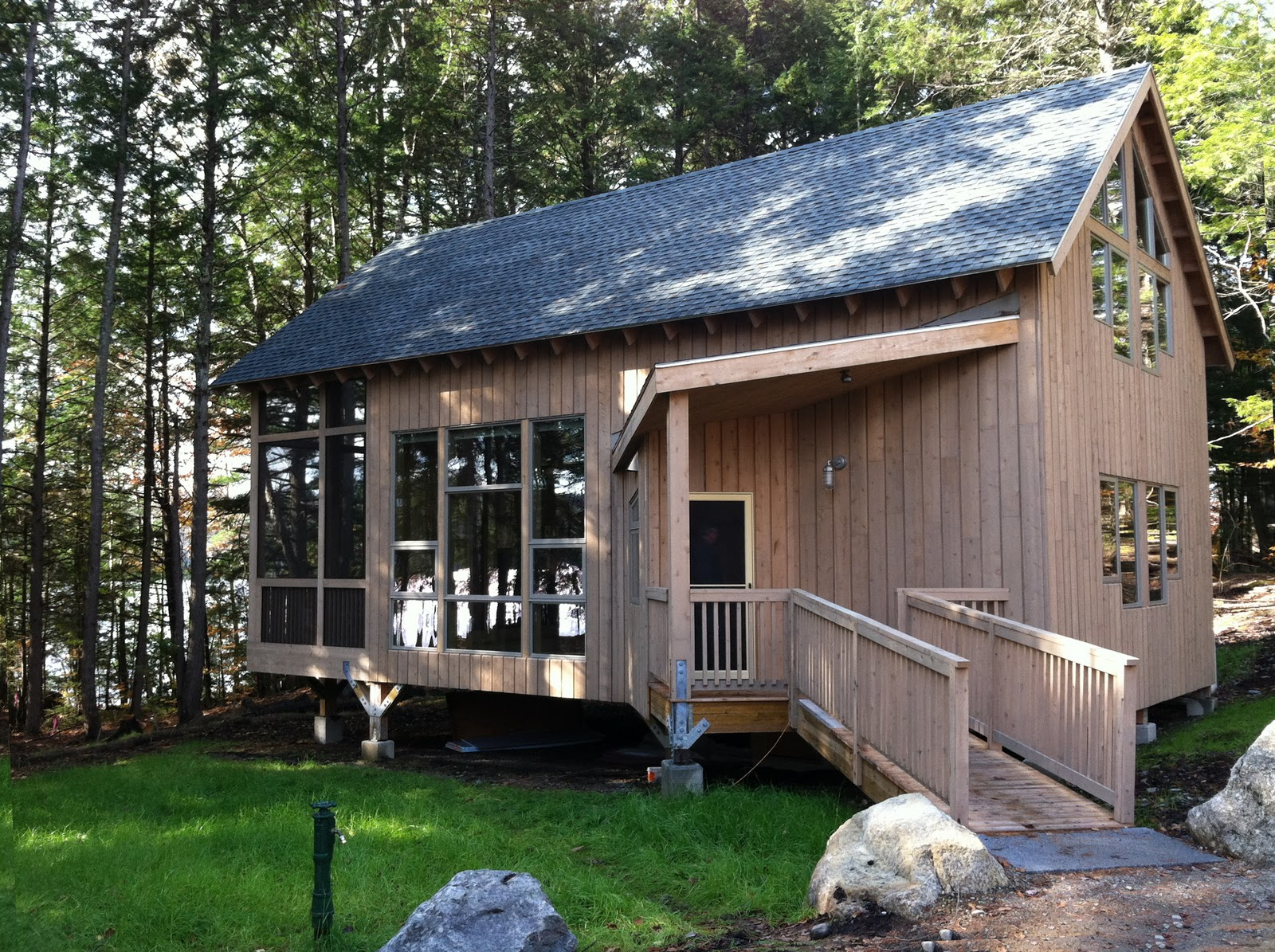 News Feed Cabins Near Complete At Great Pond Adventure Center