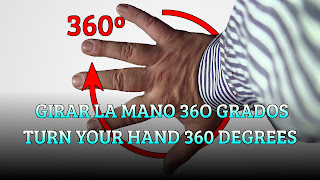 Girar la mano 360 grados, MAGIC TRICK, Turn your hand 360 degrees