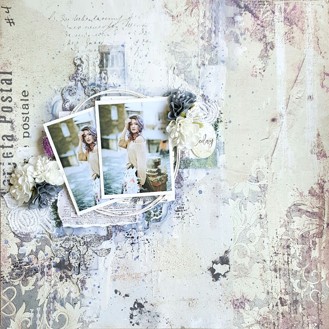 Blue Fern Studios Tattered Walls Today Layout by Jessica