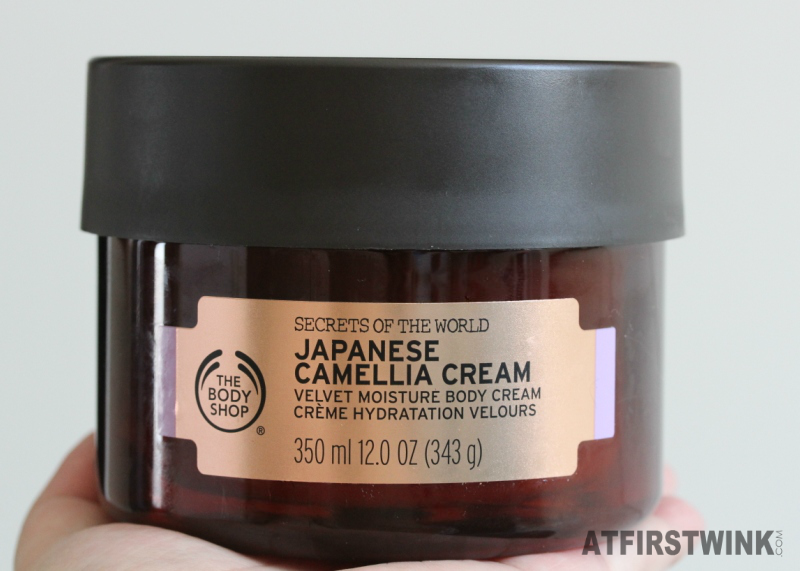 The Body Shop secrets of the world Japanese Camellia Cream velvet moisture body cream jar