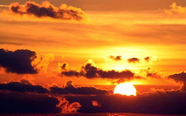 Papel de Parede Natureza Pôr do Sol nas Nuvens