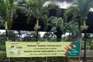 Warung Murah Niat Sedekah Podjok Halal