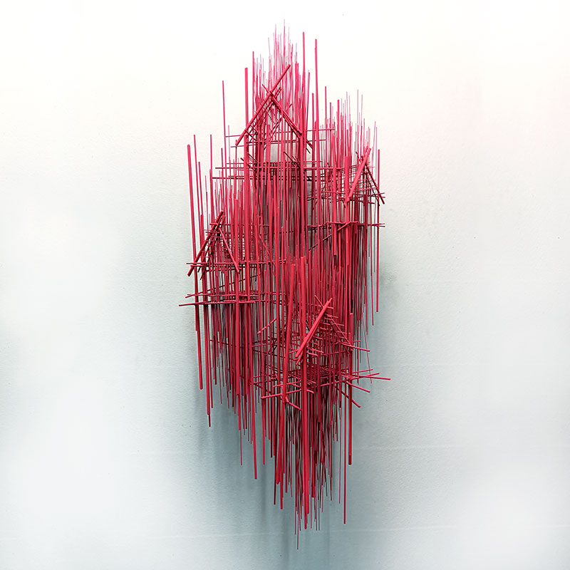 new style 7e54d 49126 New sculptures by Barcelona-based artist David Moreno that sees imaginary  buildings in the form of thin, steel wires welded together with a silver  thread ...