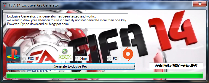 save money and generate key for fifa 14 for free