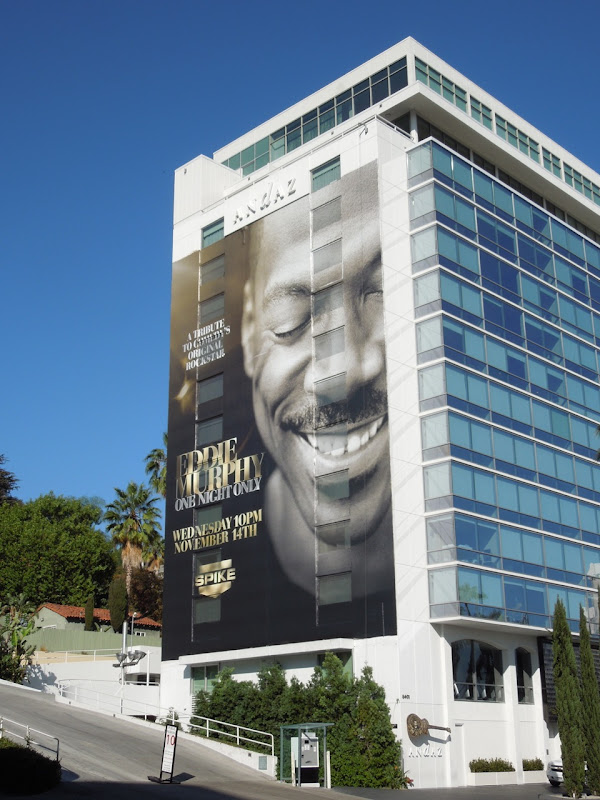 Giant Eddie Murphy One Night Only billboard Andaz Hotel