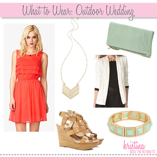 Outdoor Wedding Outfit Ideas