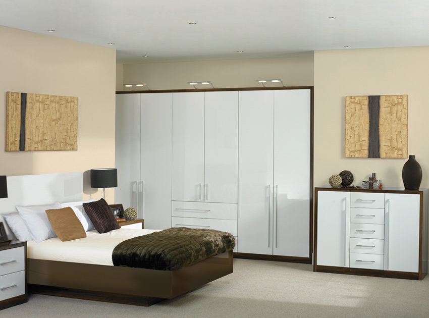 Furniture: high gloss bedroom furniture