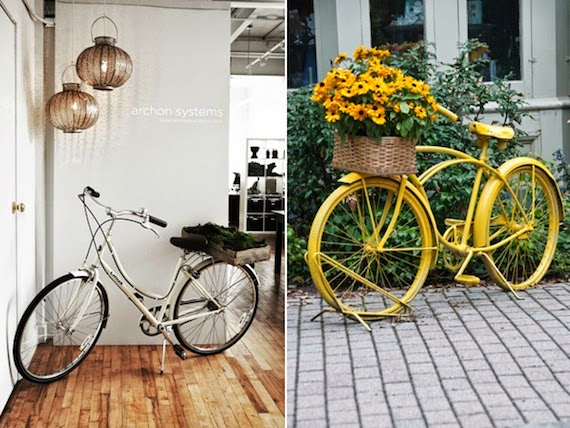 ideas para decorar con bicis