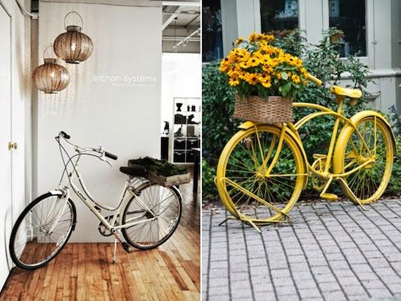 ideas para decorar con bicis