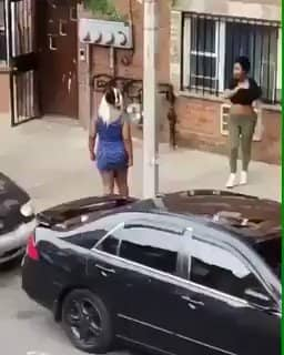 Two Slay Queens Fight, One Strips Herself Totally Unclad, The Other Runs