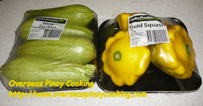 Chicken Tinola with Gold Squash - Ingredients