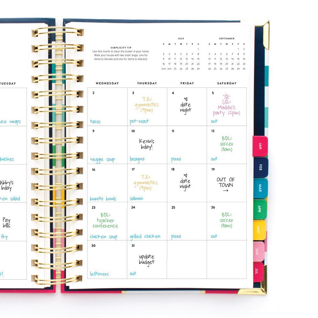 picture regarding Simplified Planner known as How I employ my Simplified Planner. - My Glittery Center
