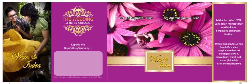 Download Contoh Undangan Pernikahan Warna Pink Tua Solusi Cetak Id