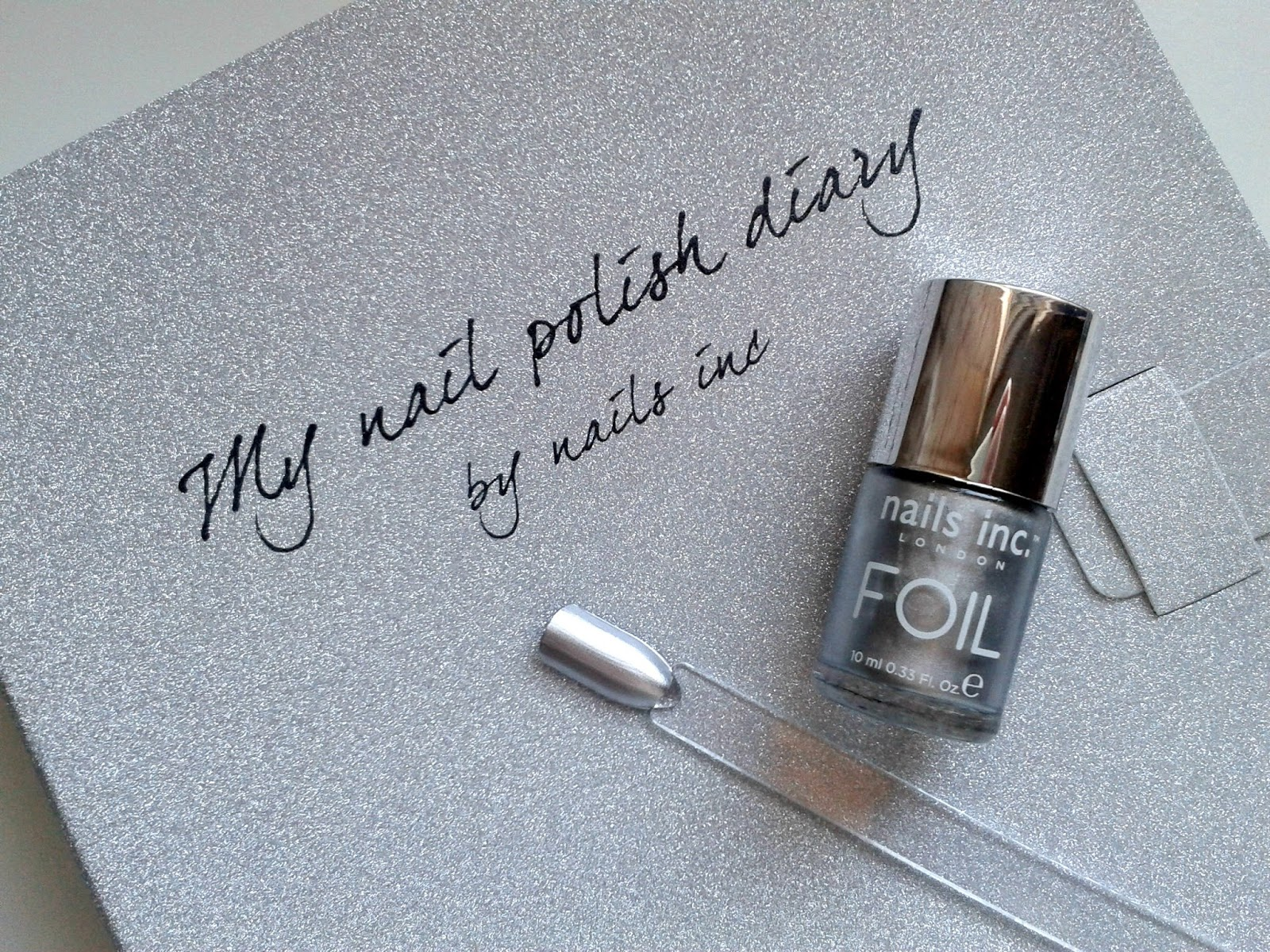 Nails Inc South Kensington Silver Foil Effect Nail Polish Beauty Review