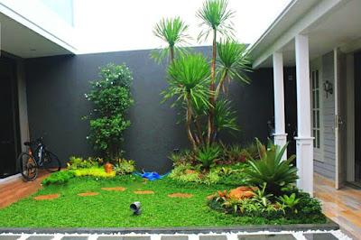 Jasa Tukang Taman Surabaya Taman Tropis Minimalis