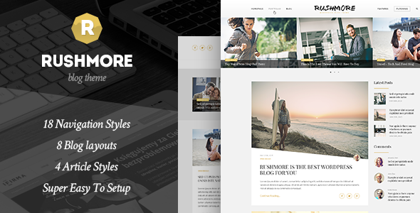 RushMore - A Responsive WordPress Blog Theme