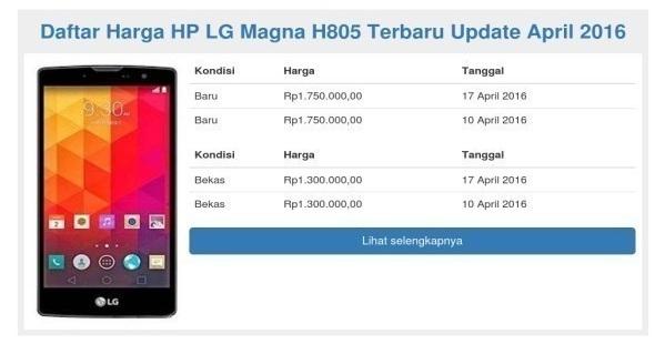 Harga HP Android LG Magna H805 Tahun 2017 Lengkap Dengan Spesifikasi