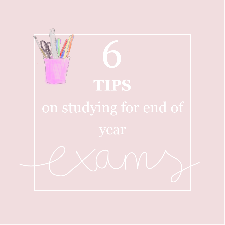 6 tips on efficient studying for end of year exams // hannahemilylane.com