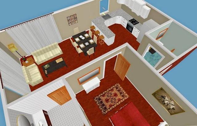 Kumpulan Denah rumah minimalis modern 3 Dimensi lengkap ...