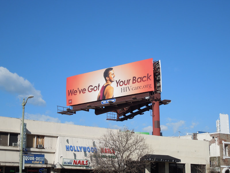 got your back HIV care red billboard