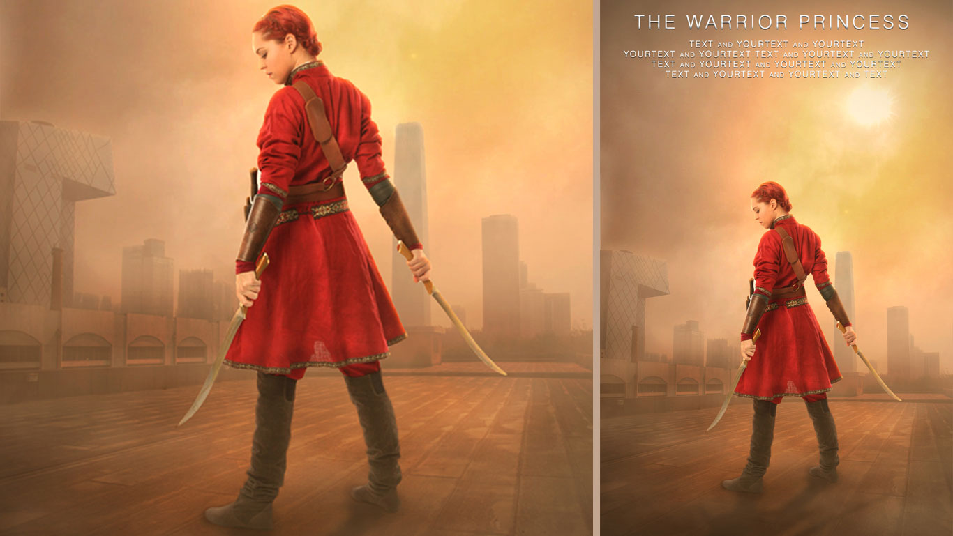 Photoshop tutorial how to create movie poster design the warrior photoshop tutorial how to create movie poster design the warrior princess baditri Gallery