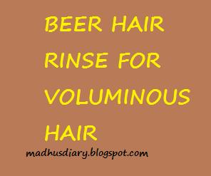 beer hair rinse