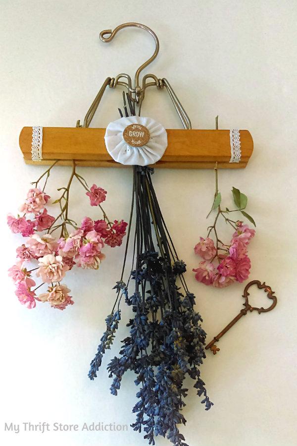 Glorious Garden Gifts mythriftstoreaddiction.blogspot.com Repurposed hanging flower drying rack available at Etsy: Secret Garden Herbs