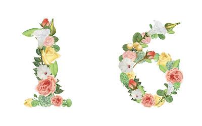 A floral number 16