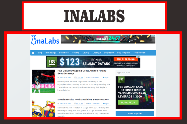 InaLabs Blogger Template Responsive, SEO, Simple, High CTR Free ...