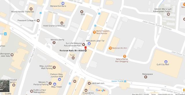 Nasi Kandar Kudu Bin Abdul, Jalan TAR